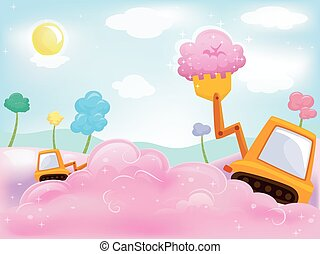 Cotton Candy Payloader - Illustration of a Payloader...