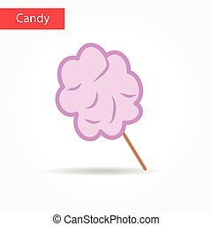 cotton candy vector icon . Cotton candy symbol