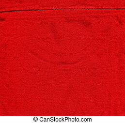 Cotton Fabric Texture - Red with Seam - High resolution...