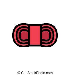 cotton  flat color icon