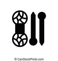cotton glyph flat icon