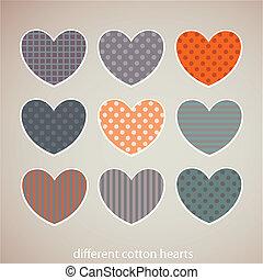 Cotton hearts