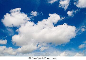 Cotton like cloudy sky