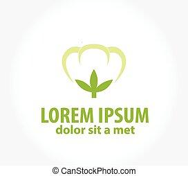 Cotton, logo template