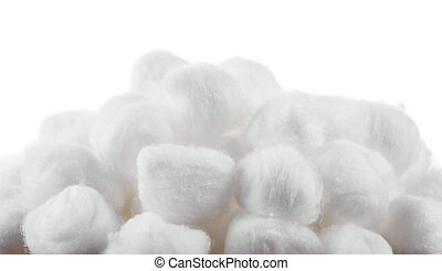 cotton on white background