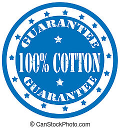 Cotton-stamp - Grunge rubber stamp with text 100% Cotton, ...