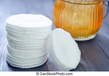 cotton stick and cotton disk