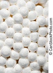cotton swab ends macro
