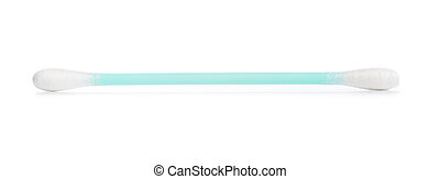 Cotton swab used for cleaning ear