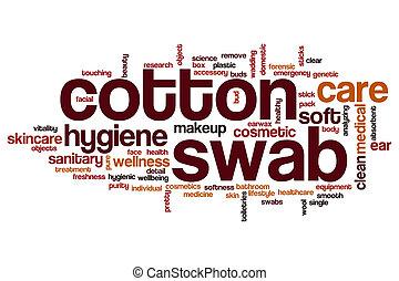 Cotton swab word cloud concept