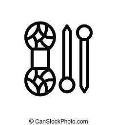 cotton  thin line icon