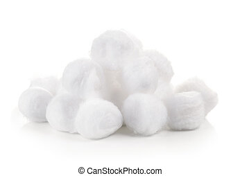 cotton wool on white background