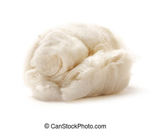 Cotton wool on white