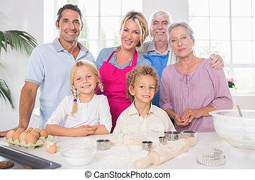 cottura, famiglia, insieme