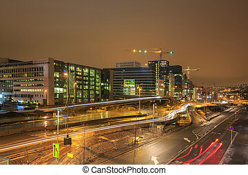 Oslo Downtown at night