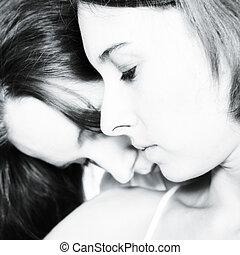 cou, baisers, mon