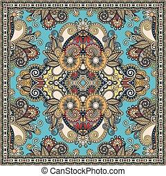 cou, ou, foulard, écharpe, modèle, carrée, soie, authentique...