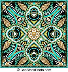 cou, ou, foulard, écharpe, modèle, carrée, soie, conception