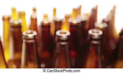 cou, sommet, acuité, bouteilles, vue, profondeur, petit, vide