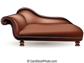 couch on white background - brown couch on white background....