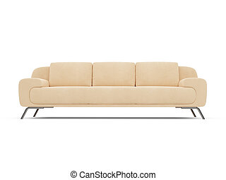Couch over white - isolated couch over white background