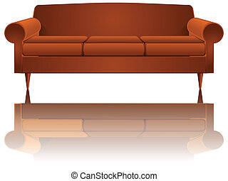 couch reflected