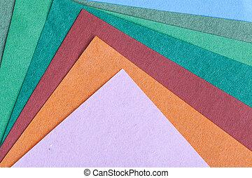couche, empilé, coloré, modèle, résumé, texture, re, papier...