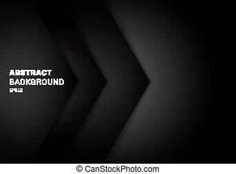 couche, triangle, espace, gradient, résumé, chevauchement, papier couleur, noir, arrière-plan., gabarit, copie, 3d