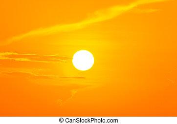 Coucher soleil, ciel