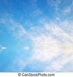 Coucher soleil, ciel, fond