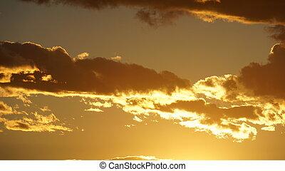 coucher soleil, dans, las vegas