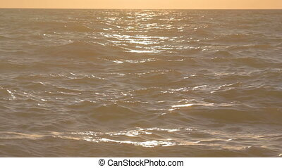 coucher soleil, hori, sur, 1, 4, graduel