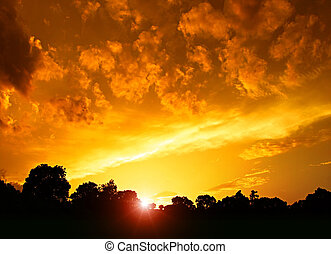 coucher soleil or