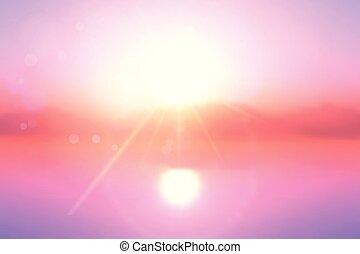 coucher soleil, paysage, fond, 0504
