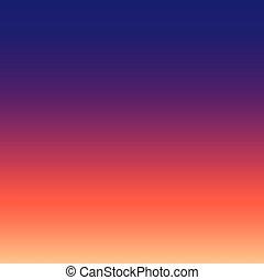 coucher soleil, résumé, gradient, ciel, fond