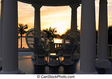 coucher soleil, romantique