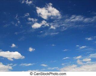 couches, clouds;, voler, deux