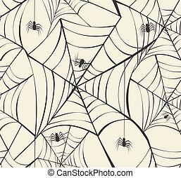 couches, eps10, fichier, enchaînements, modèle, halloween, seamless, araignés, arrière-plan., editing., vecteur, facile, organisé, heureux