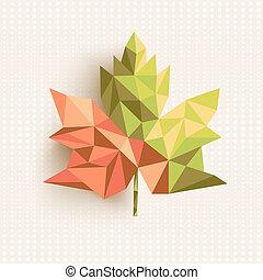 couches, fichier, feuille, illustration., organisé, editing., vecteur, facile, automne, branché, eps10, géométrique, composition, 3d