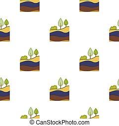 couches, style, illustration., modèle, mine, isolé, arrière-plan., vecteur, la terre, blanc, icône, dessin animé, stockage