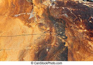 couches, univers, modèle, -, géologique, magma, rocher, posé couches, la terre