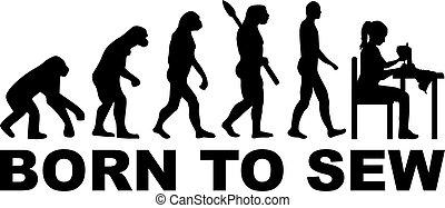 coudre, né, évolution, couture, -