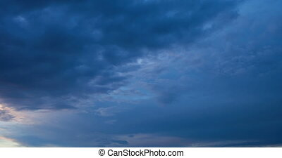 Couds thickening before storm - Time lapse video of clouds...