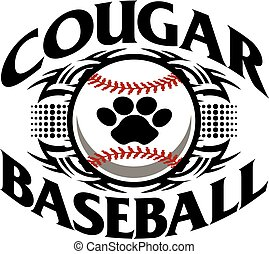cougar baseball - tribal cougar baseball team design with...