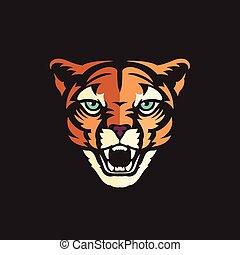 Cougar head Mascot Vector illustration