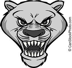 Cougar Mascot Head Illustration