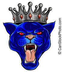 Cougar Panther Mascot Head Vector illustration Graphic