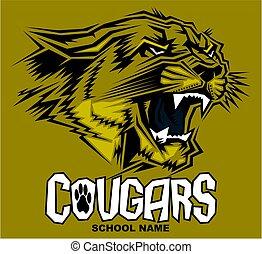 cougars mascot design