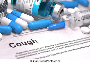 Cough Diagnosis. Medical Concept.