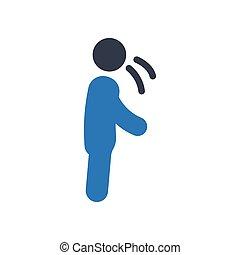 cough  glyph color icon